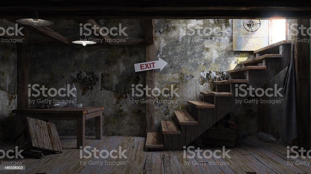 ancient concept room shelter interior stock photo