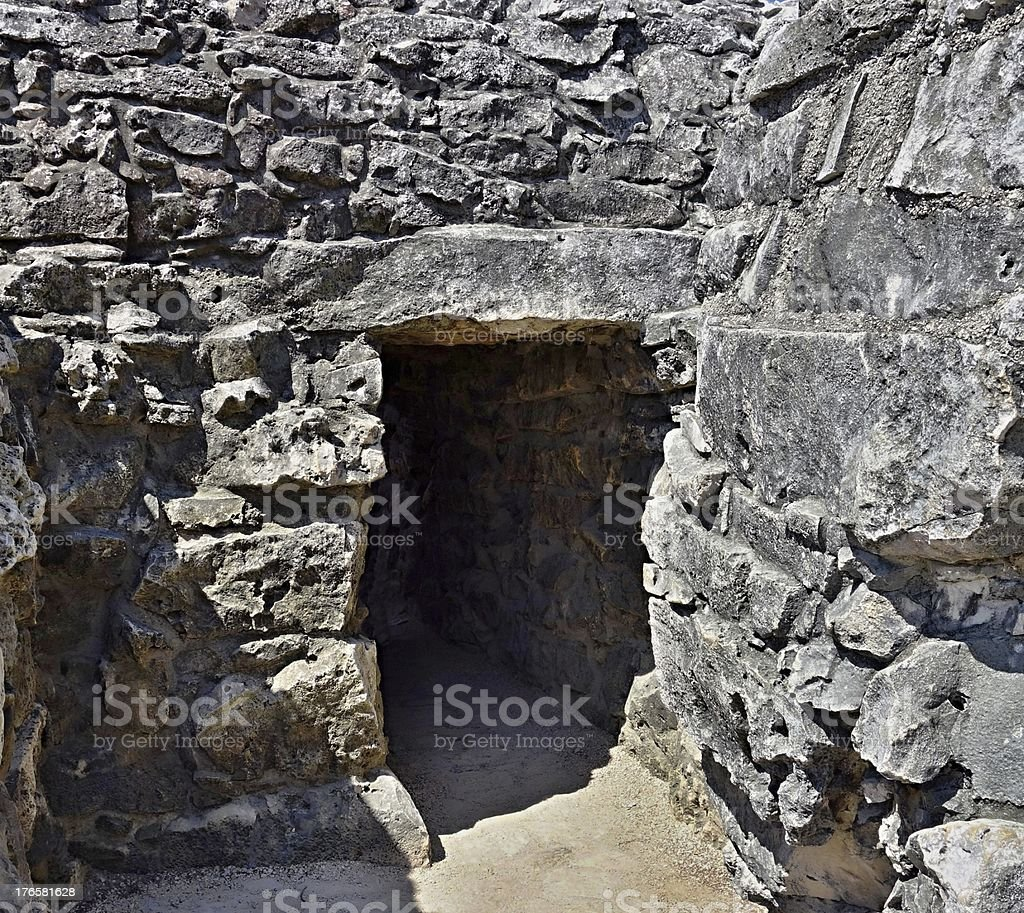 Ancient construction from a stone royalty-free stock photo