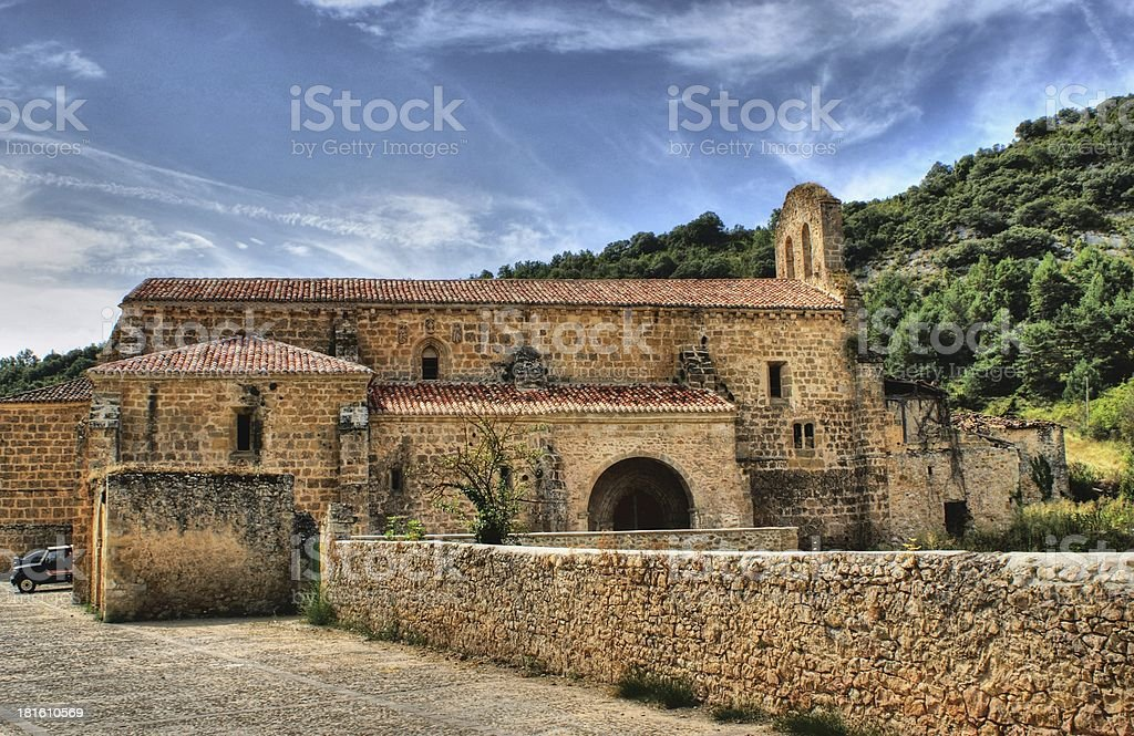 Ancient convent of Vadillo royalty-free stock photo