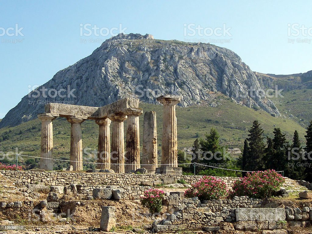 Ancient Corinth, Greece stock photo