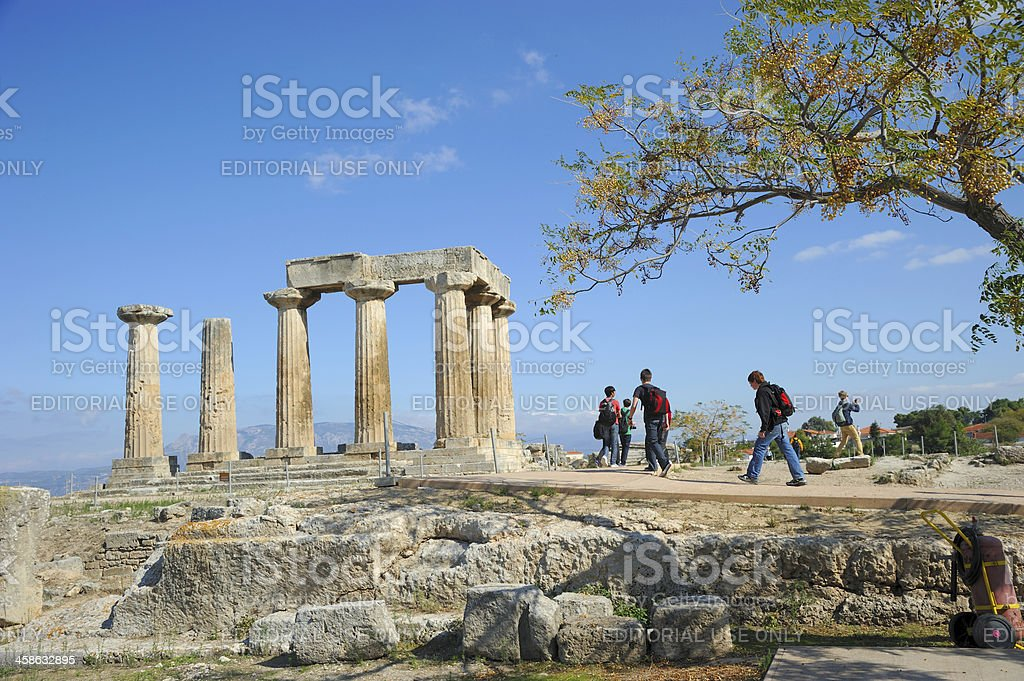 Ancient Corinth Tour stock photo