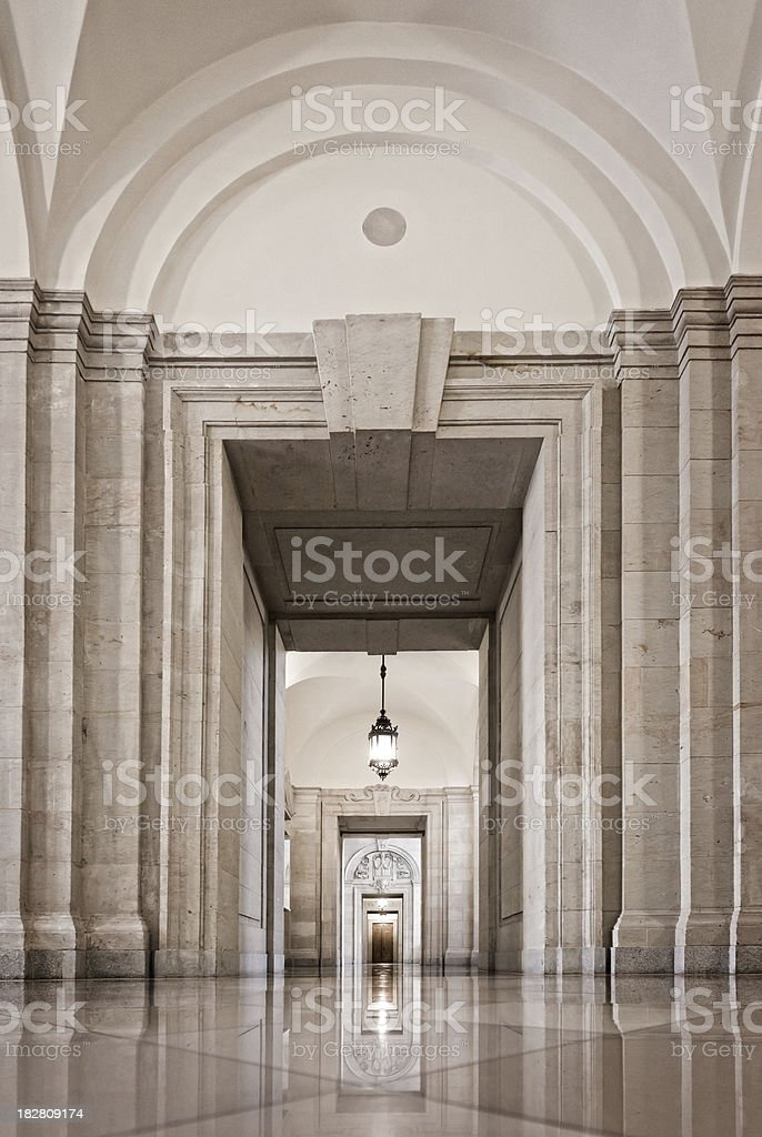 Ancient Corridor royalty-free stock photo