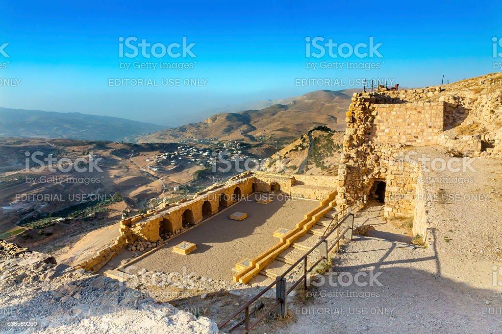 Ancient Crusader Castle View Arabic Fortress Kerak Jordan stock photo