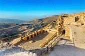 Ancient Crusader Castle View Arabic Fortress Kerak Jordan