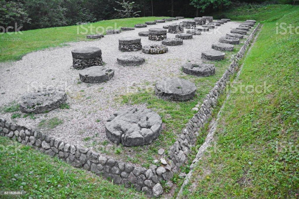 ancient dacian sanctuary stock photo