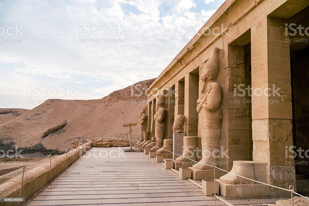 LUXOR, EGYPT: Ancient Deir el-Bahari stock photo