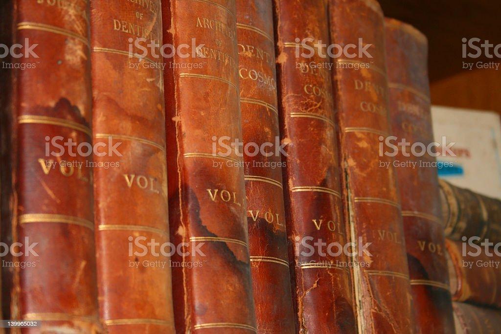 Ancient Dental Text royalty-free stock photo