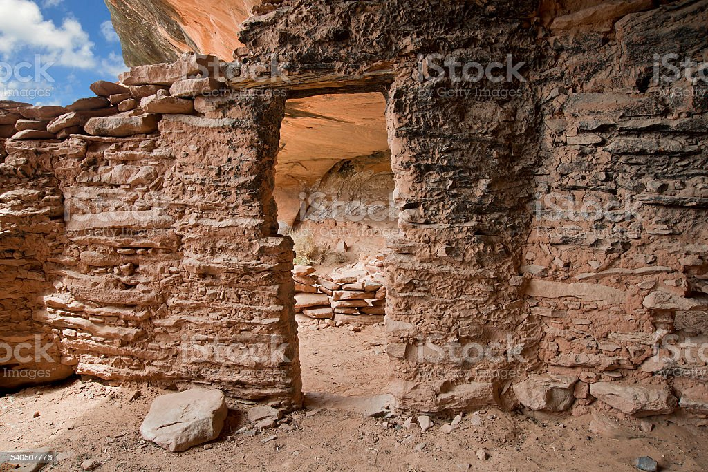 Ancient desert home stock photo