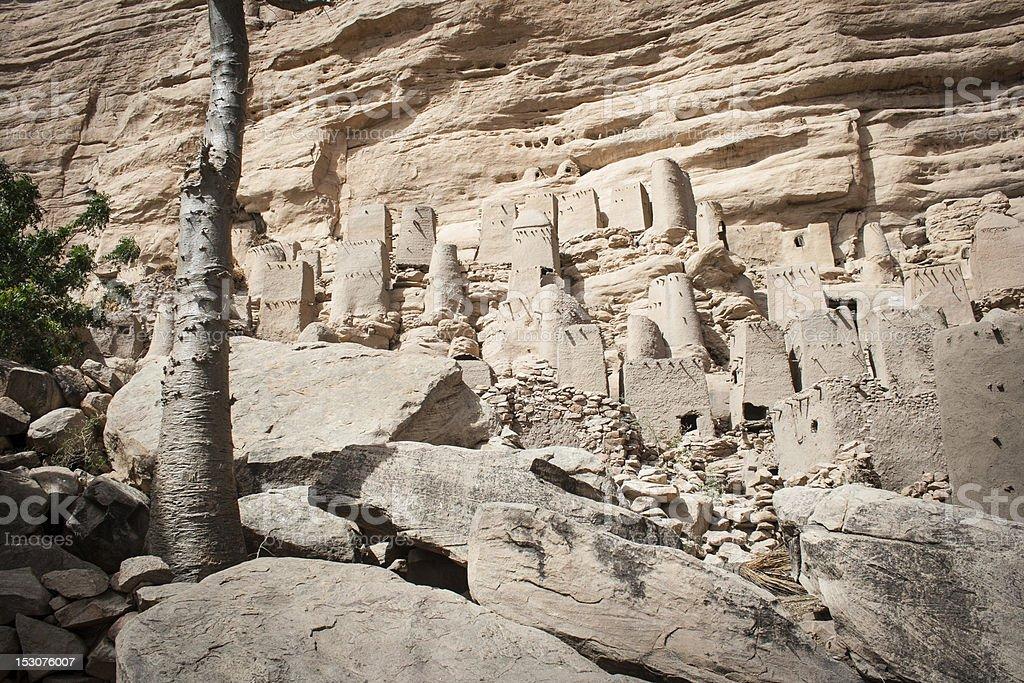 Ancient Dogon village, Mali, Africa. stock photo