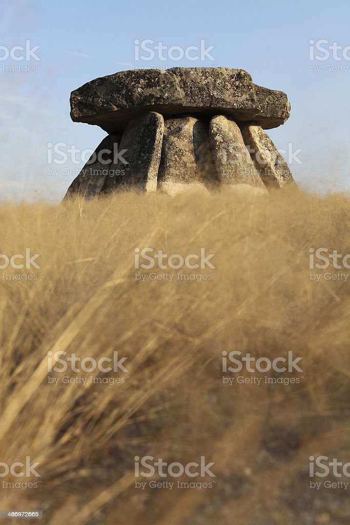Ancient Dolmen stock photo