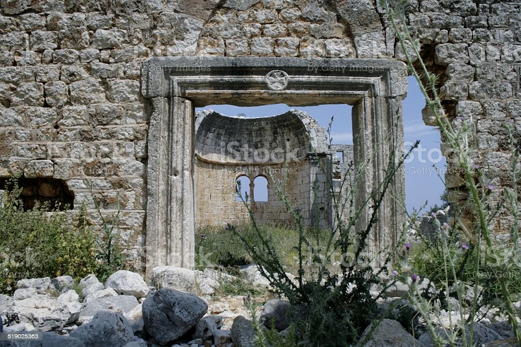 image from the ancient city Conytellis Kanytella royalty-free stock photo