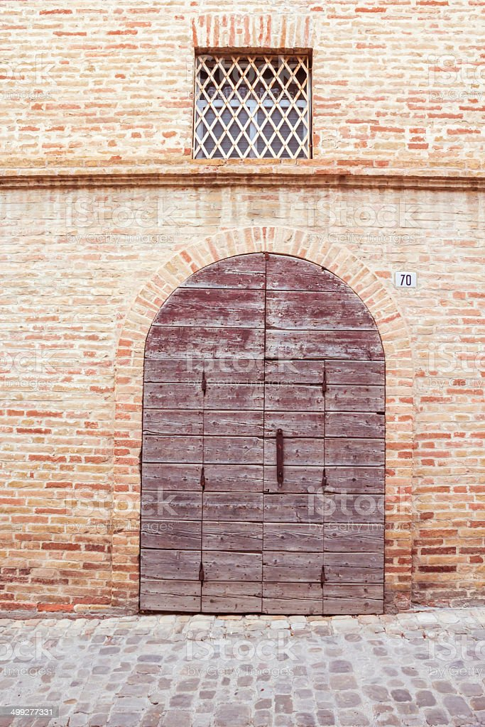 ancient door in Italy royalty-free stock photo