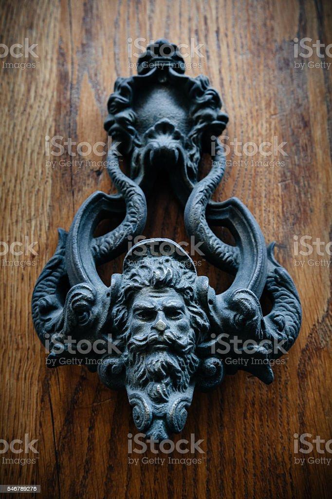 Ancient Door Knocker stock photo