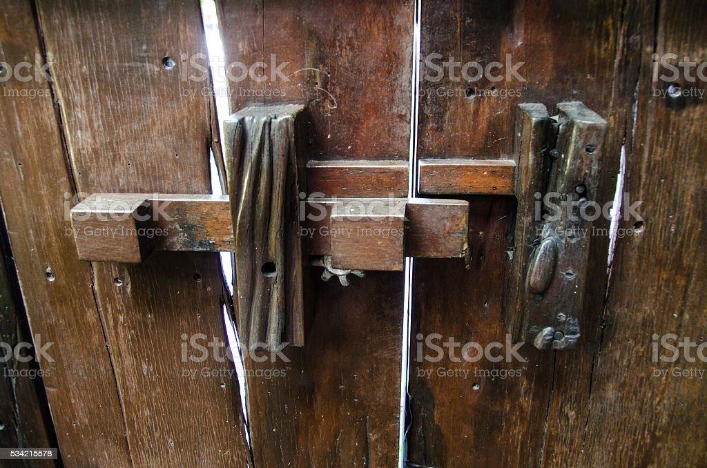 Ancient door latch stock photo