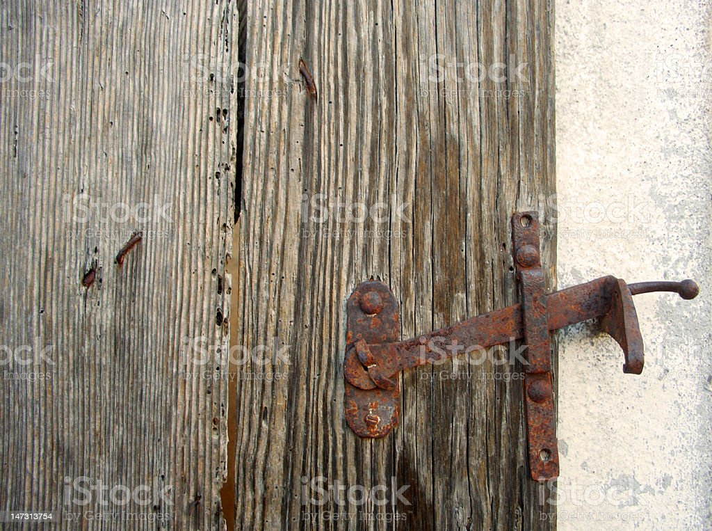 Ancient door lock royalty-free stock photo