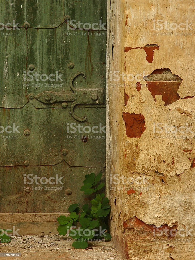 Ancient door (2) royalty-free stock photo