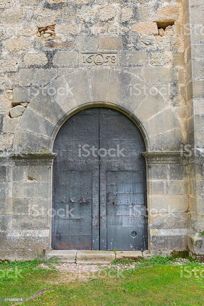 Ancient door. stock photo