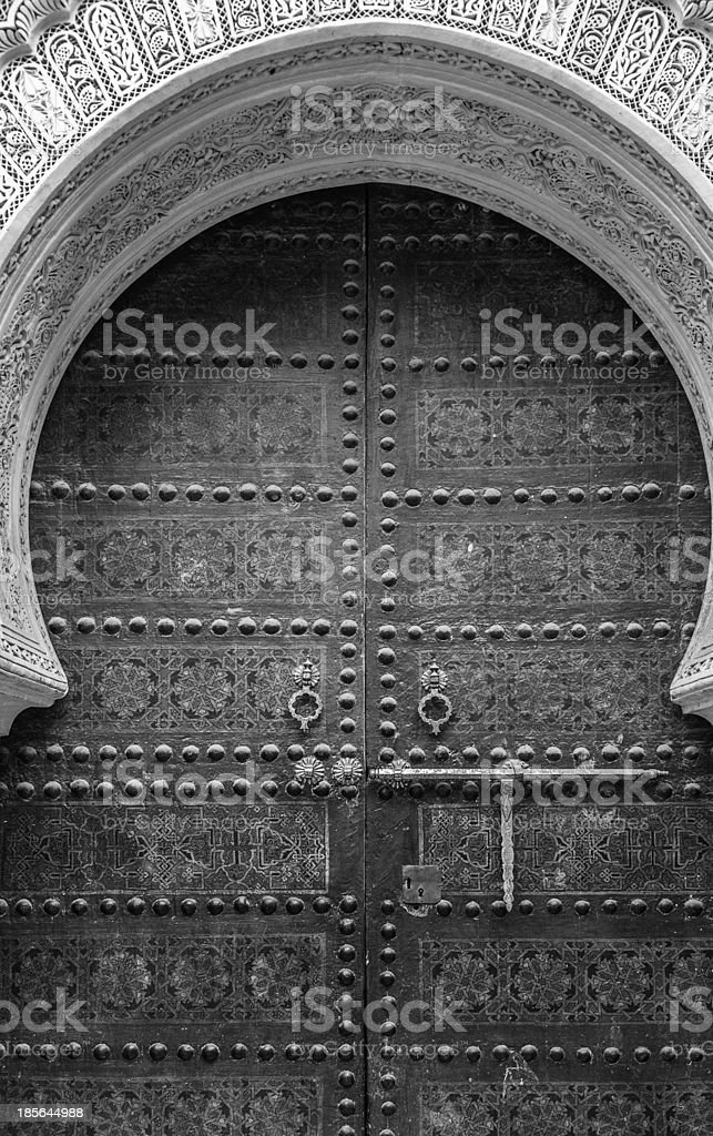Ancient doors, Morocco royalty-free stock photo