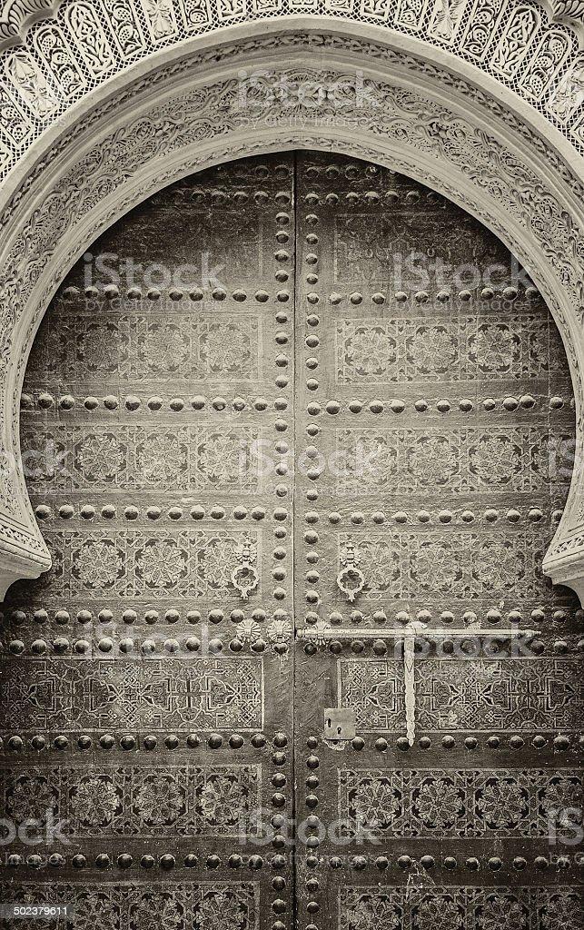 Ancient doors, Morocco stock photo