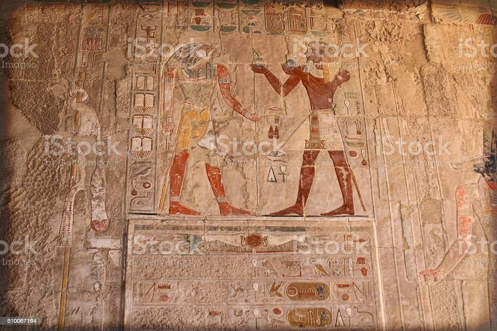 Ancient egypt color stock photo