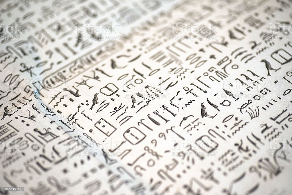ancient egypt signs - Hyroglyphen stock photo