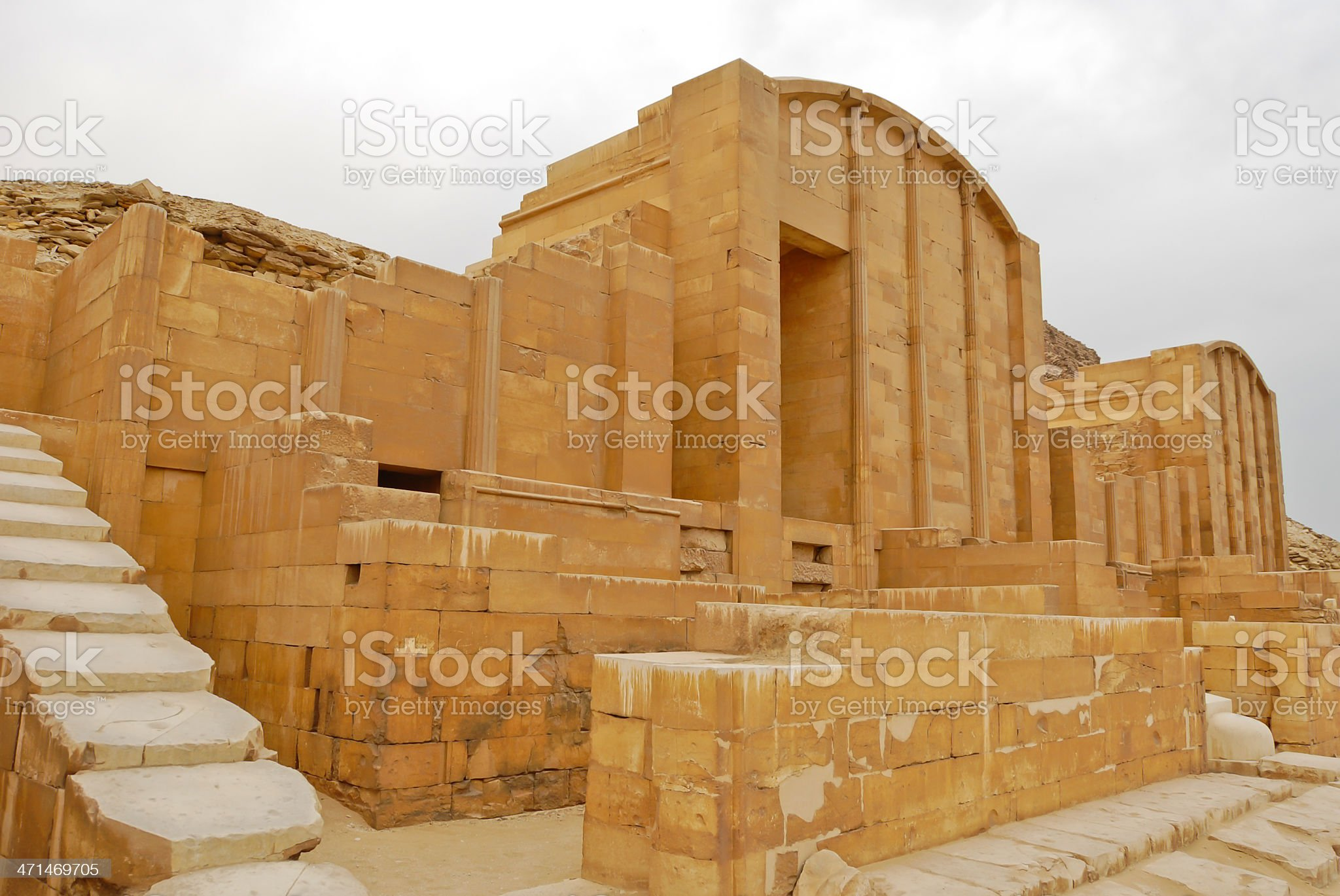 Ancient Egyptian architecture royalty-free stock photo