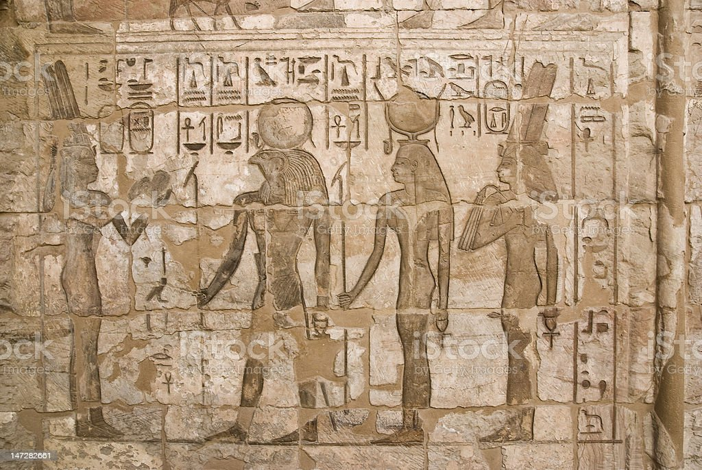 Ancient Egyptian Fresco royalty-free stock photo