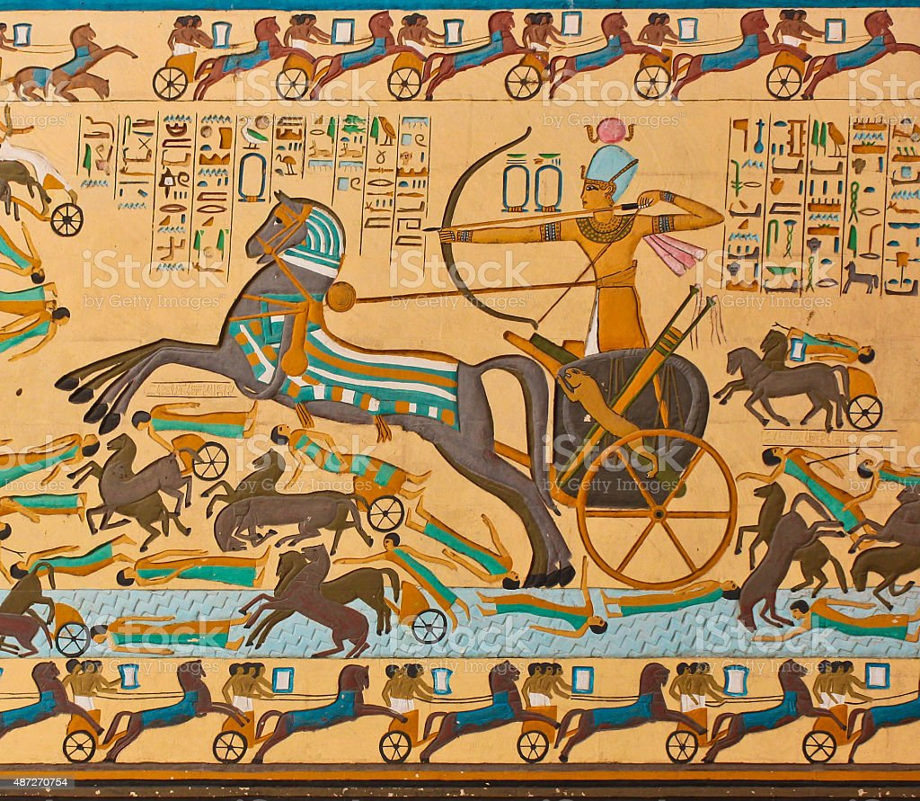 Ancient Egyptian hieroglyphic Art stock photo