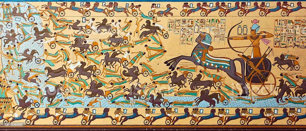 Ancient Egyptian hieroglyphic Art stock photo