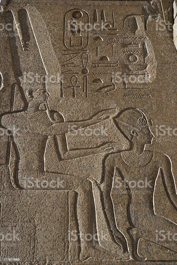 ancient Egyptian Hieroglyphics royalty-free stock photo