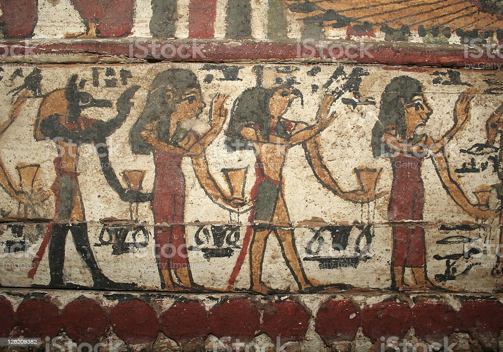 Ancient Egyptian Painting stock photo