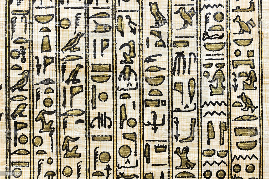 ancient egyptian parchment stock photo