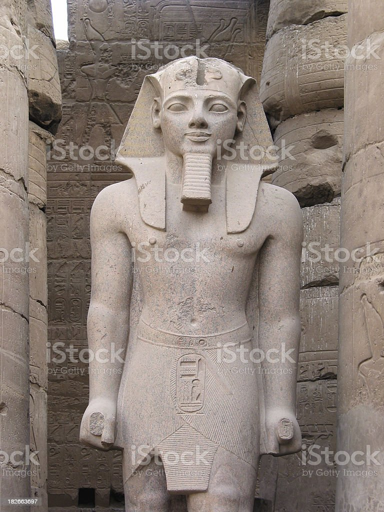 Ancient Egyptian Pharaoh's Statue royalty-free stock photo