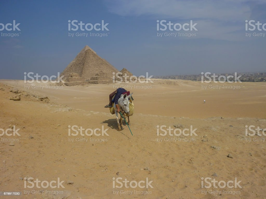 Ancient Egyptian Pyramid. stock photo