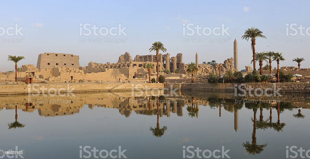 Ancient Egyptian reflections stock photo