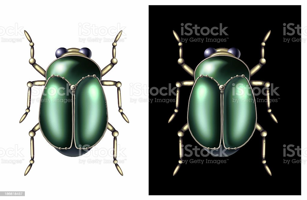 Ancient Egyptian Scarab stock photo