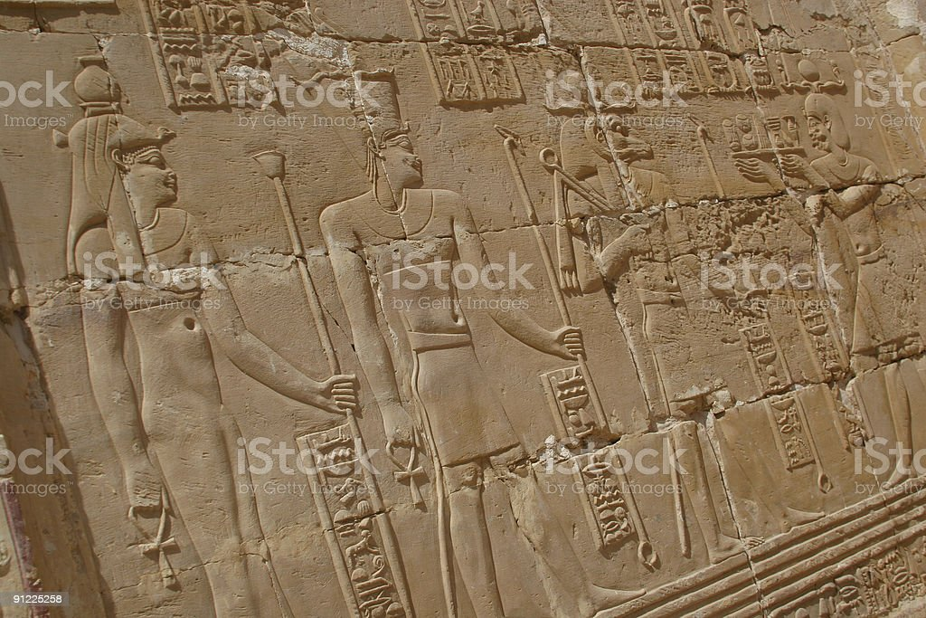 Ancient Egyptian Temple Art royalty-free stock photo