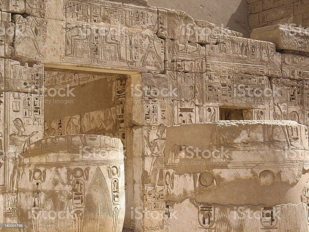 Ancient Egyptian Temple Columns royalty-free stock photo