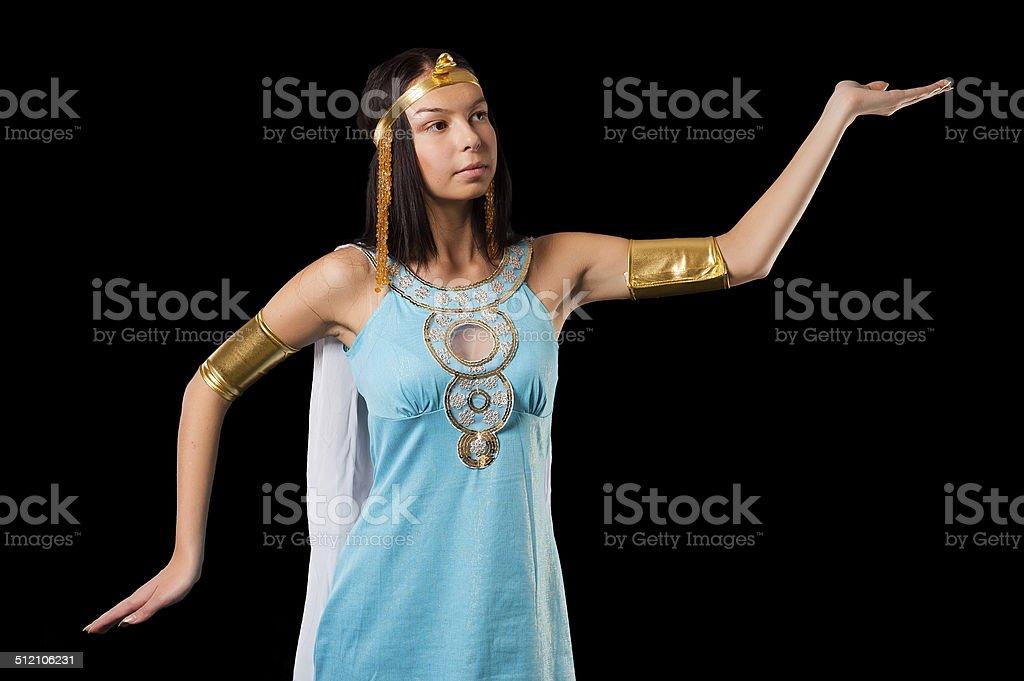 Ancient Egyptian woman - Cleopatra stock photo
