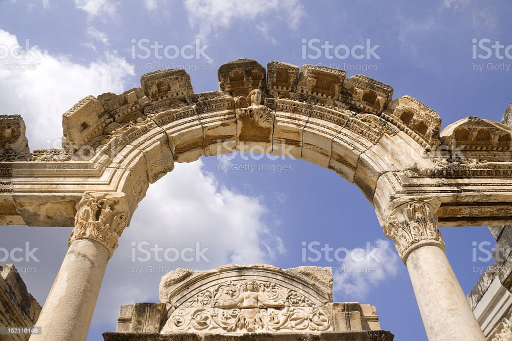 Ancient Ephesus Arch stock photo