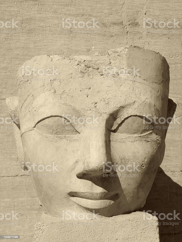 ancient face of Hatschepsut stock photo