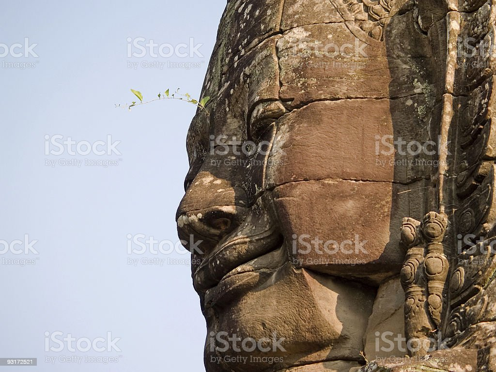 Ancient Face stock photo
