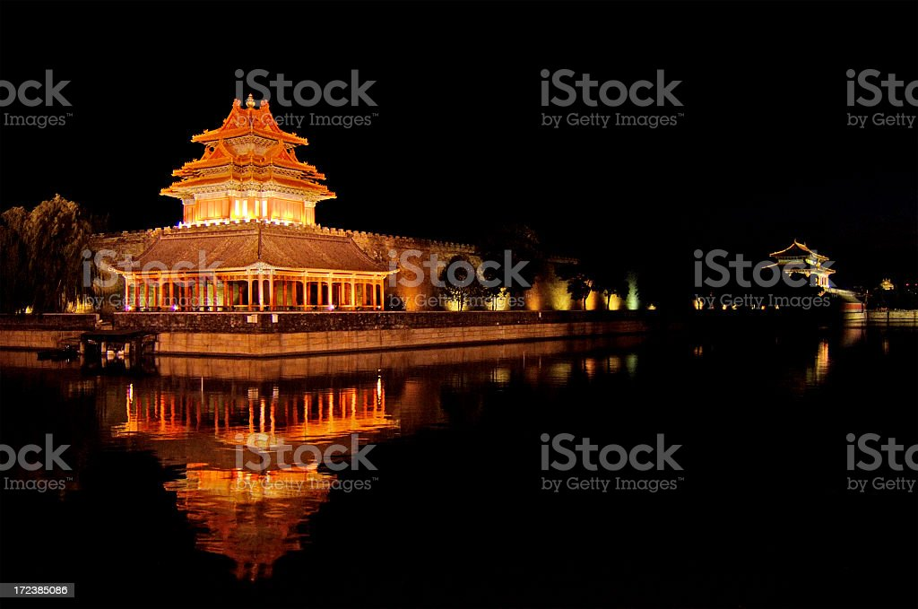 Ancient Forbidden City Wall in Beijing, China royalty-free stock photo
