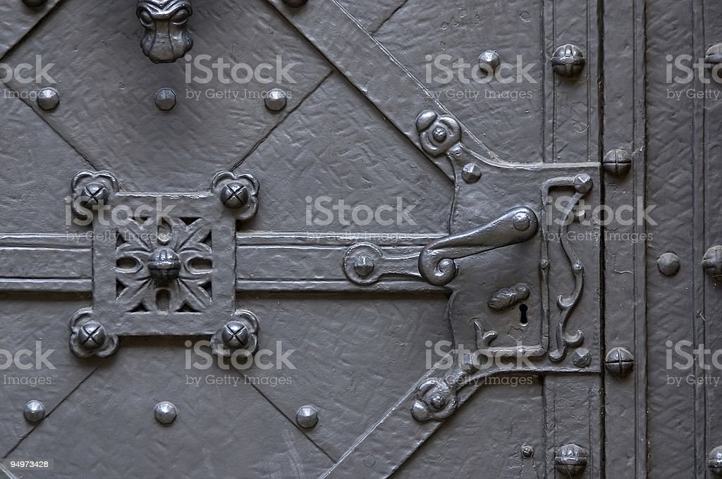 ancient forged door royalty-free stock photo