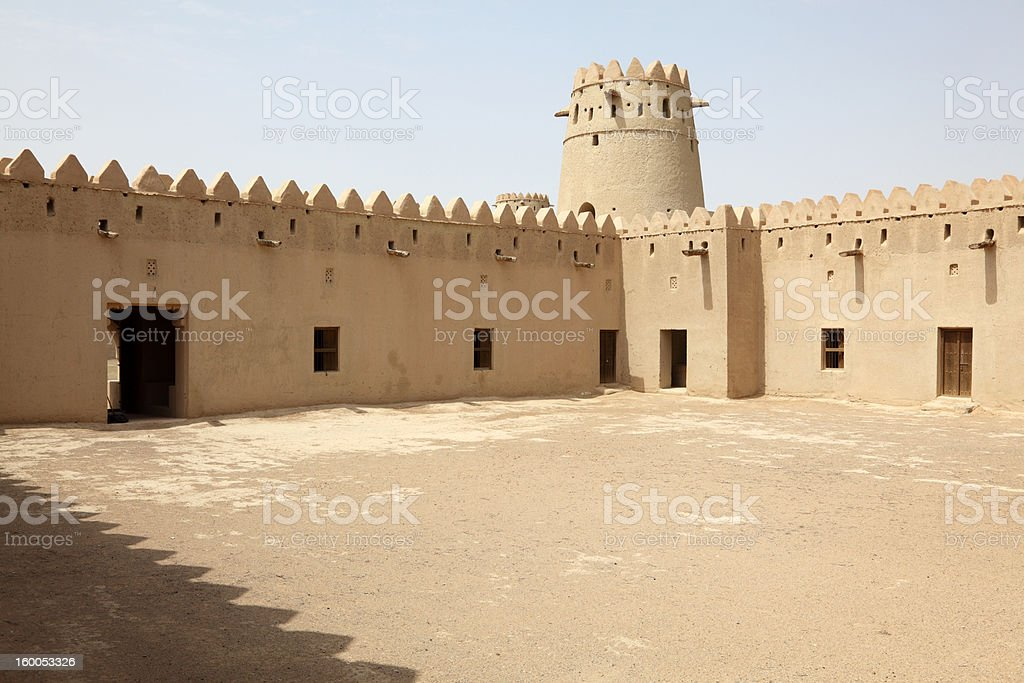 Ancient fort of Al Ain, Abu Dhabi royalty-free stock photo