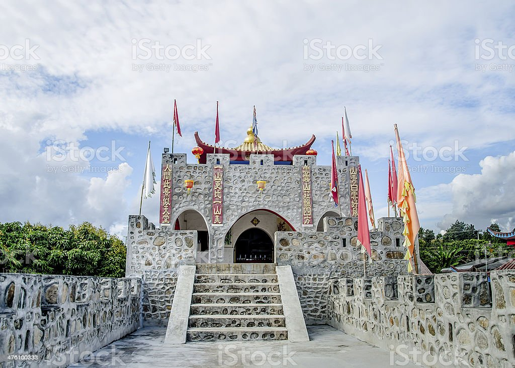 Ancient fort of chinese style royalty-free stock photo
