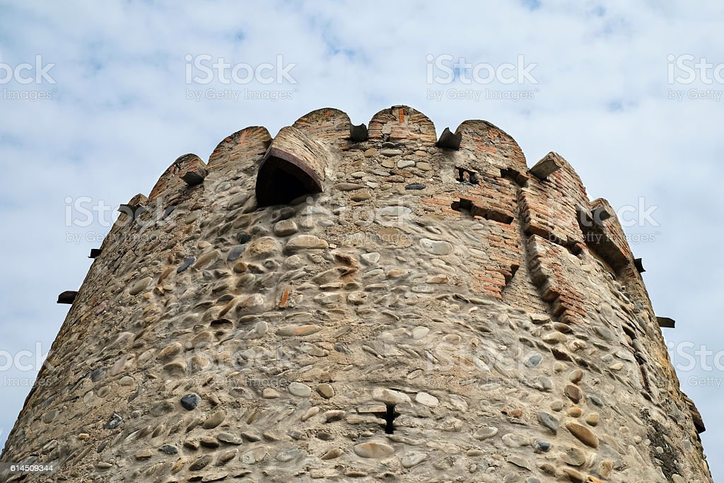 Ancient fortifications in Mtskheta, Georgia stock photo
