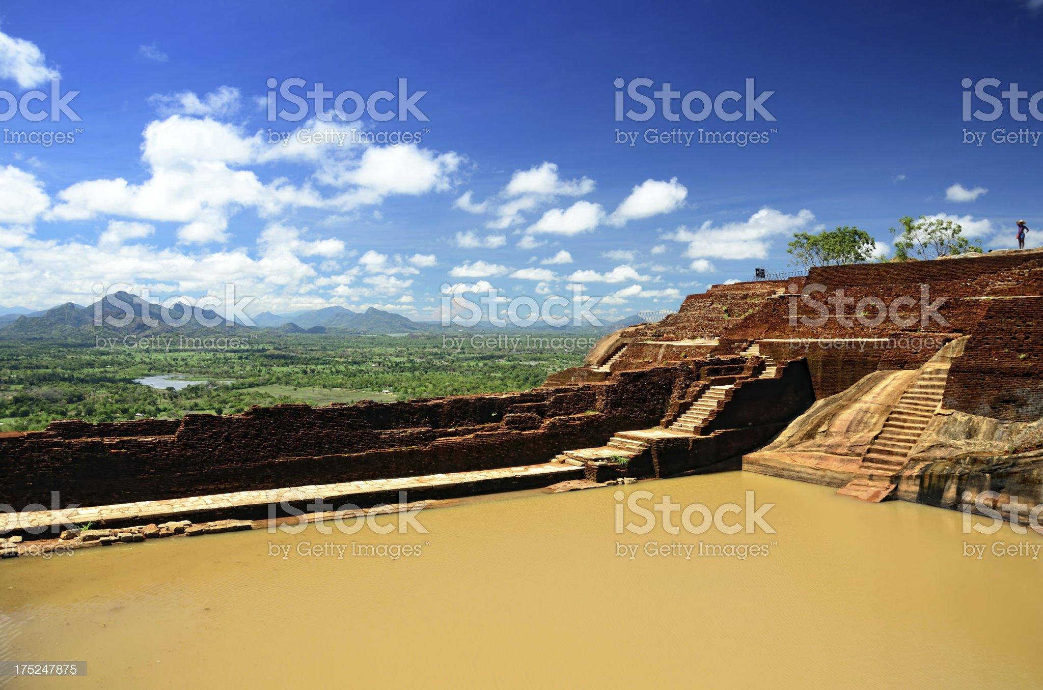 Ancient fortress ruin, Sigiriya royalty-free stock photo