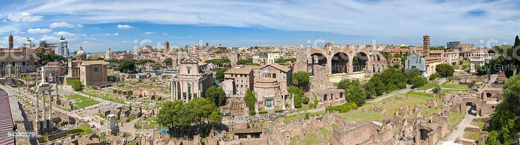 Ancient Forum, Rome stock photo