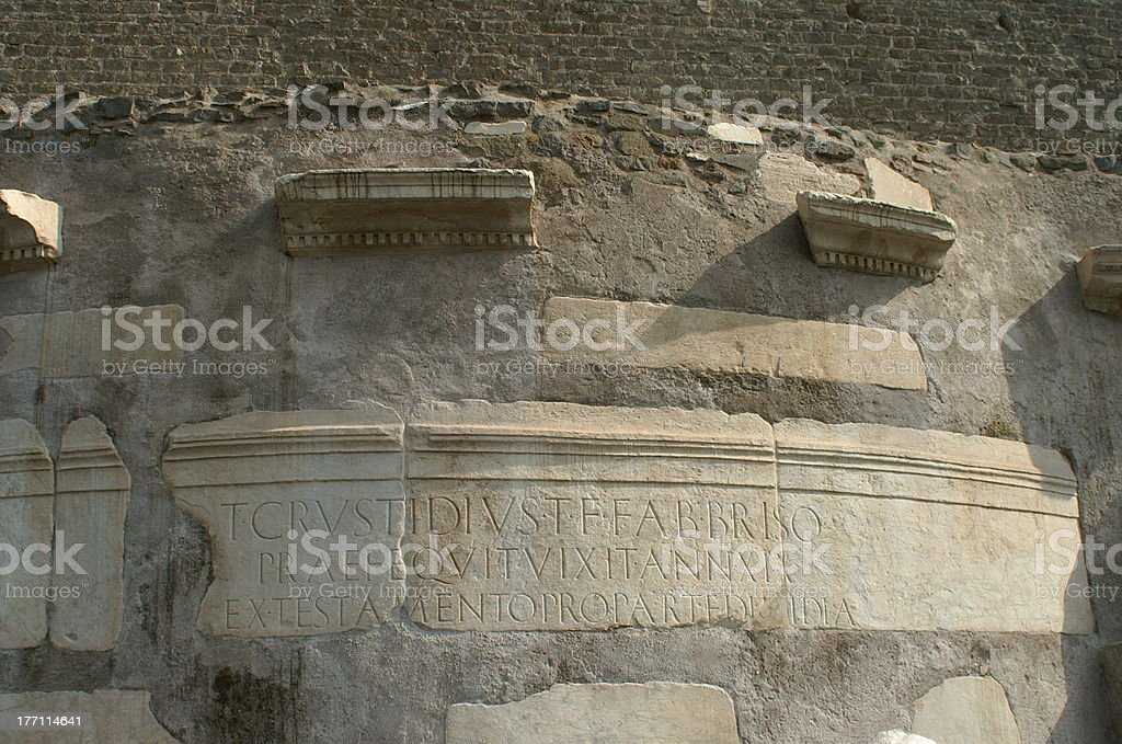 Ancient fragments stock photo